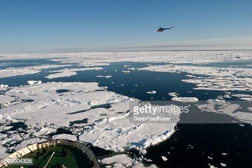 Bow of Ice breaker heading in NE Passage
