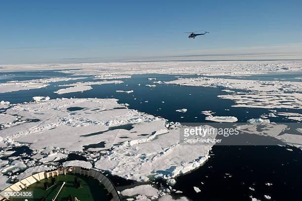 Arco de gelo breaker posição em NE passagem