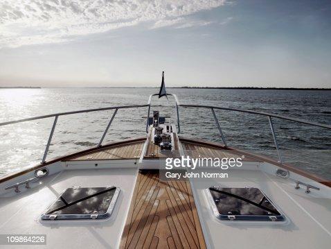 Bow of motoryacht