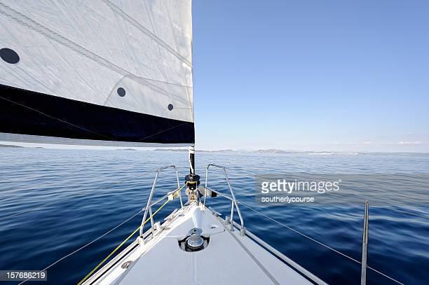 Schleife der Yacht Segeln