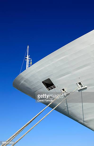 Bow of Tethered Cruise-Ship.