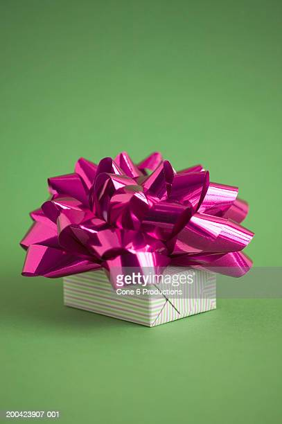 Bow on gift box
