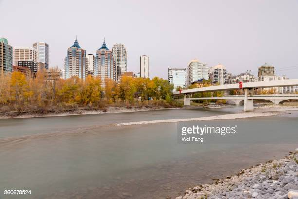 Bow River and Calgary Downtown
