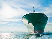 Schleife auf cargo Schiff Segeln auf dem Meer