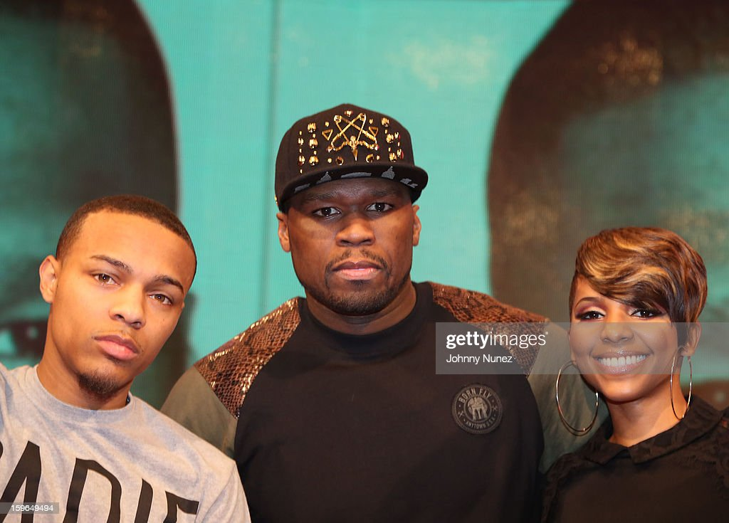Bow Wow, 50 Cent and Miss Mykie visit BET's '106 & Park' at BET Studios on January 17, 2013 in New York City.