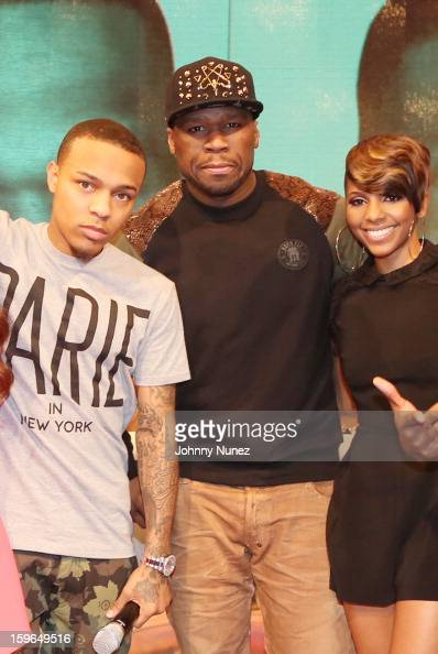 Bow Wow 50 Cent and Miss Mykie visit BET's '106 Park' at BET Studios on January 17 2013 in New York City