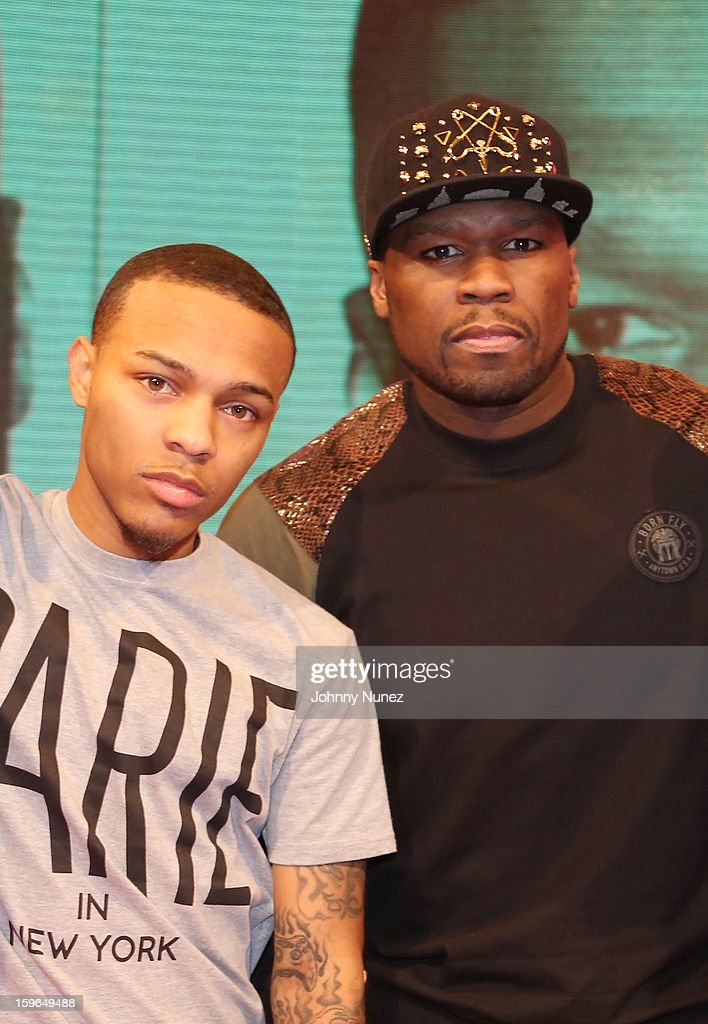 Bow Wow and 50 Cent visit BET's '106 & Park' at BET Studios on January 17, 2013 in New York City.