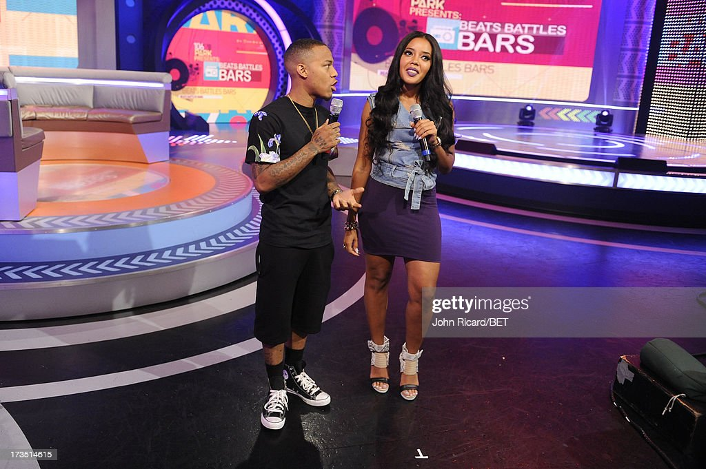 Bow Wow and Angela Simmons at BET's 106 & Park at BET Studios on July 15, 2013 in New York City.