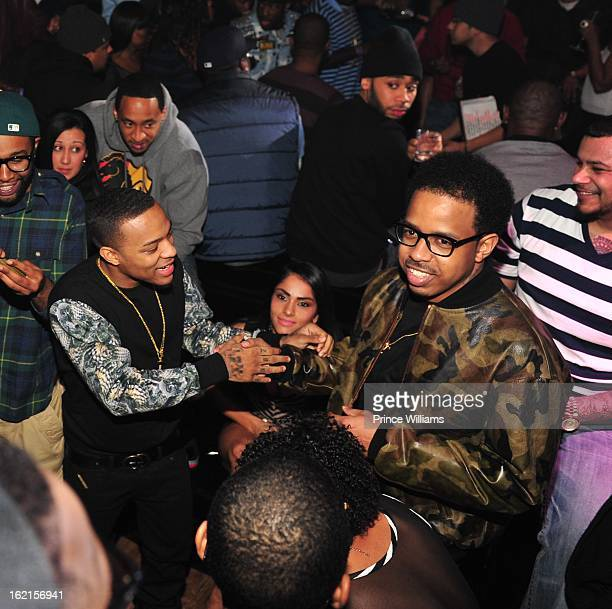 Bow Wow and Bart attend a party hosted by Bow Wow and Teyana Taylor at Compound on February 9 2013 in Atlanta Georgia