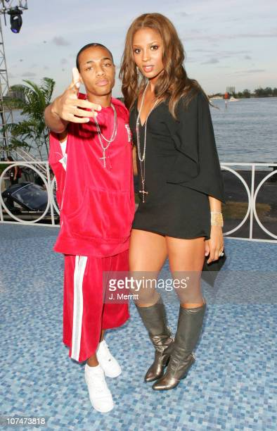 Bow Wow and Ciara during 2005 MTV Video Music Awards MTV News Platform Arrivals at American Airlines Arena in Miami Florida United States