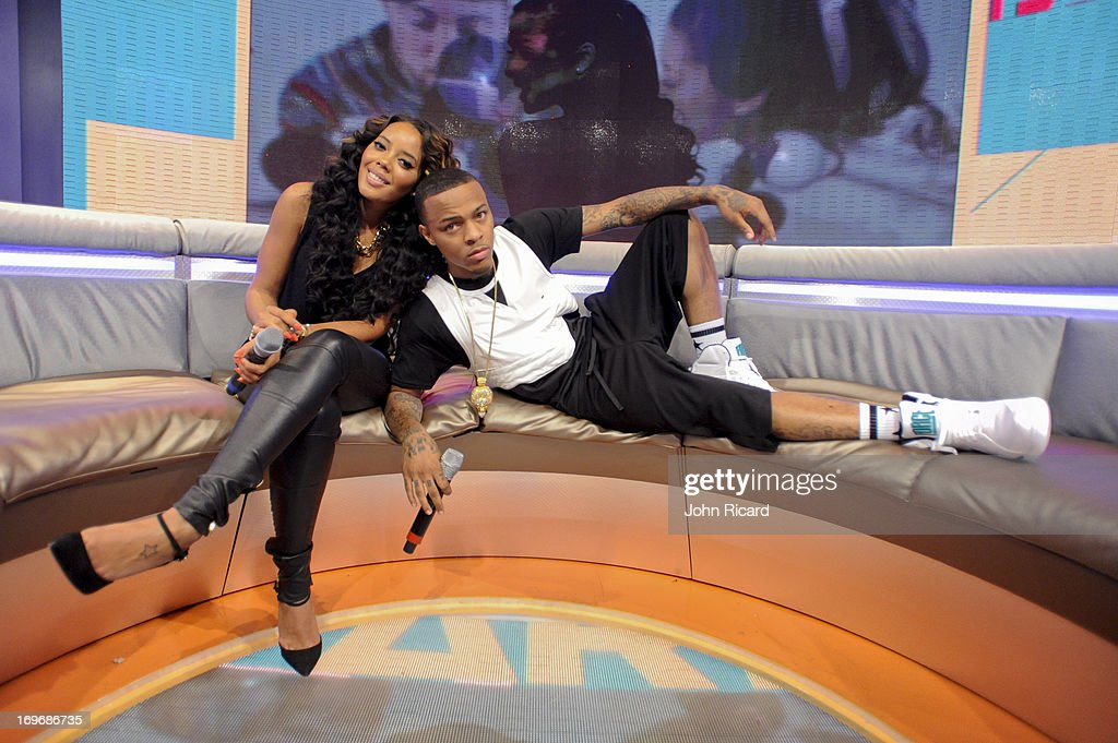 <a gi-track='captionPersonalityLinkClicked' href=/galleries/search?phrase=Bow+Wow+-+Rapper&family=editorial&specificpeople=211211 ng-click='$event.stopPropagation()'>Bow Wow</a> and guest Co-Host <a gi-track='captionPersonalityLinkClicked' href=/galleries/search?phrase=Angela+Simmons&family=editorial&specificpeople=653461 ng-click='$event.stopPropagation()'>Angela Simmons</a> at BET's '106 & Park' at BET Studios on May 30, 2013 in New York City.