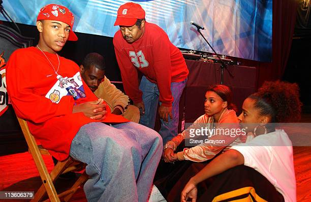 Bow Wow and his staff go over rehearsals for his concert for VIP's and National Contest Winners at the House of Blues Las Vegas