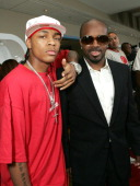 Bow Wow and Jermaine Dupri during FoxSearchlight Pictures Present the Los Angeles Premiere of 'Roll Bounce' Arrivals at The Bridge at Howard Hughes...