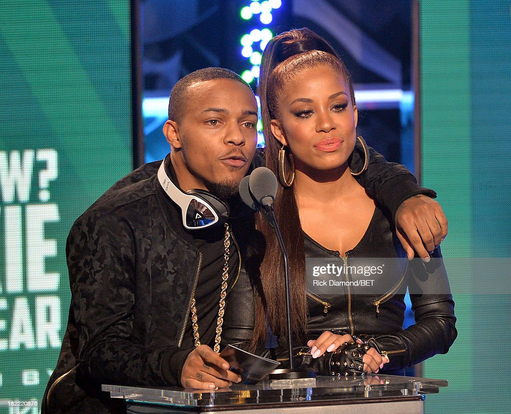 Bow Wow (L) and Keshia Chante present the Rookie of the Year Award award onstage at the BET Hip Hop Awards 2013 at Boisfeuillet Jones Atlanta Civic Center on September 28, 2013 in Atlanta, Georgia.