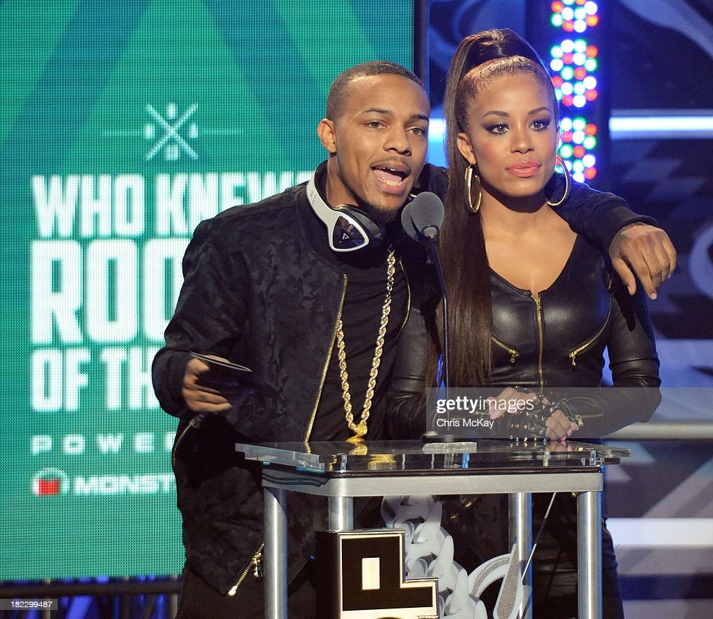 <a gi-track='captionPersonalityLinkClicked' href=/galleries/search?phrase=Bow+Wow+-+Rapper&family=editorial&specificpeople=211211 ng-click='$event.stopPropagation()'>Bow Wow</a> and Keshia Chante present the Who Knew? Rookie Of The Year Award during the BET Hip Hop Awards 2013 at the Boisfeuillet Jones Atlanta Civic Center on September 28, 2013 in Atlanta, Georgia.