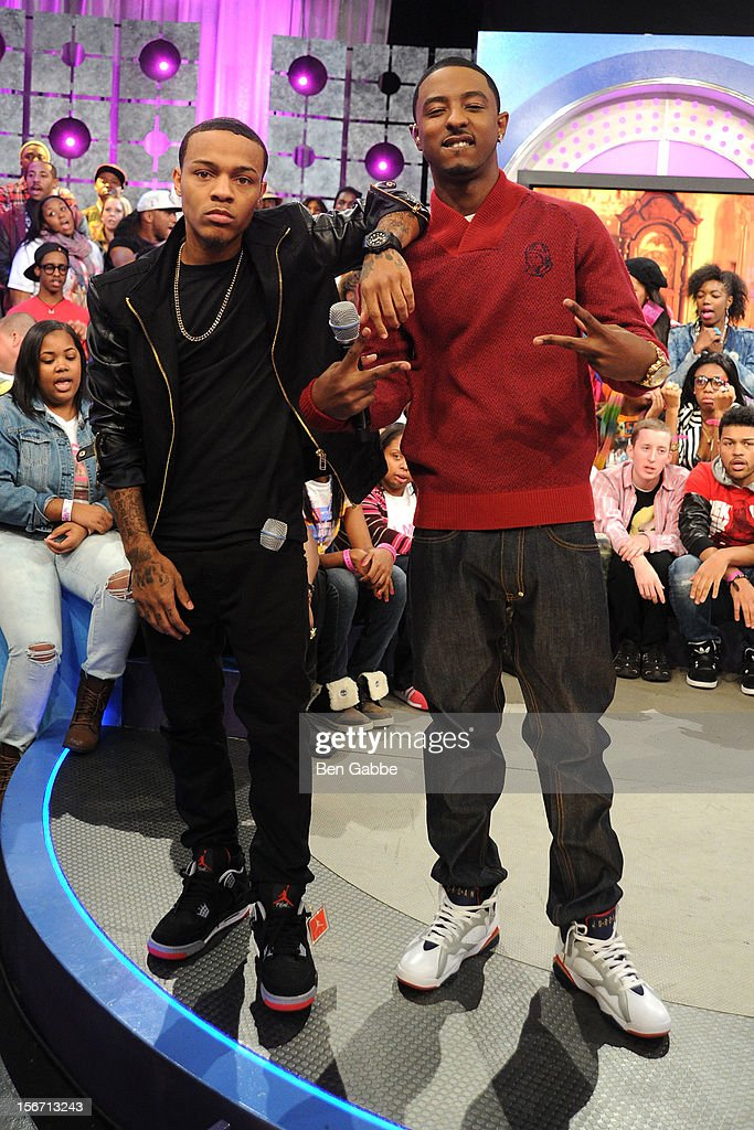 <a gi-track='captionPersonalityLinkClicked' href=/galleries/search?phrase=Bow+Wow+-+Rapper&family=editorial&specificpeople=211211 ng-click='$event.stopPropagation()'>Bow Wow</a> and Shorty (R) attend BET's 106 & Park Studio on November 19, 2012 in New York City.