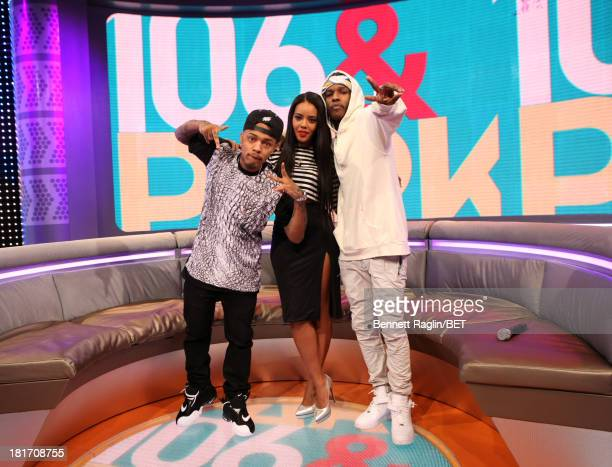 Bow Wow Angela Simmons and A$AP Rocky attend 106 Park at 106 Park Studio on September 23 2013 in New York City