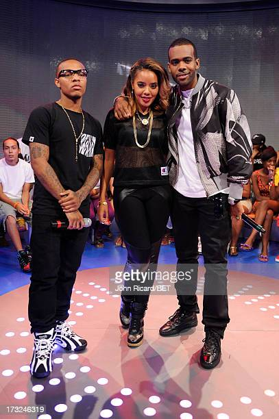 Bow Wow Angela Simmons and Mario at BET's 106 Park at BET Studios on July 10 2013 in New York City