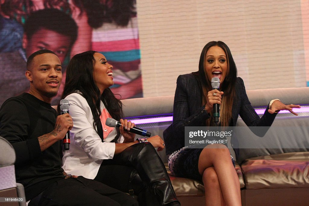 <a gi-track='captionPersonalityLinkClicked' href=/galleries/search?phrase=Bow+Wow+-+Rapper&family=editorial&specificpeople=211211 ng-click='$event.stopPropagation()'>Bow Wow</a>, <a gi-track='captionPersonalityLinkClicked' href=/galleries/search?phrase=Angela+Simmons&family=editorial&specificpeople=653461 ng-click='$event.stopPropagation()'>Angela Simmons</a>, and <a gi-track='captionPersonalityLinkClicked' href=/galleries/search?phrase=Tia+Mowry&family=editorial&specificpeople=631098 ng-click='$event.stopPropagation()'>Tia Mowry</a> attend 106 & Park at 106 & Park on September 23, 2013 in New York City.