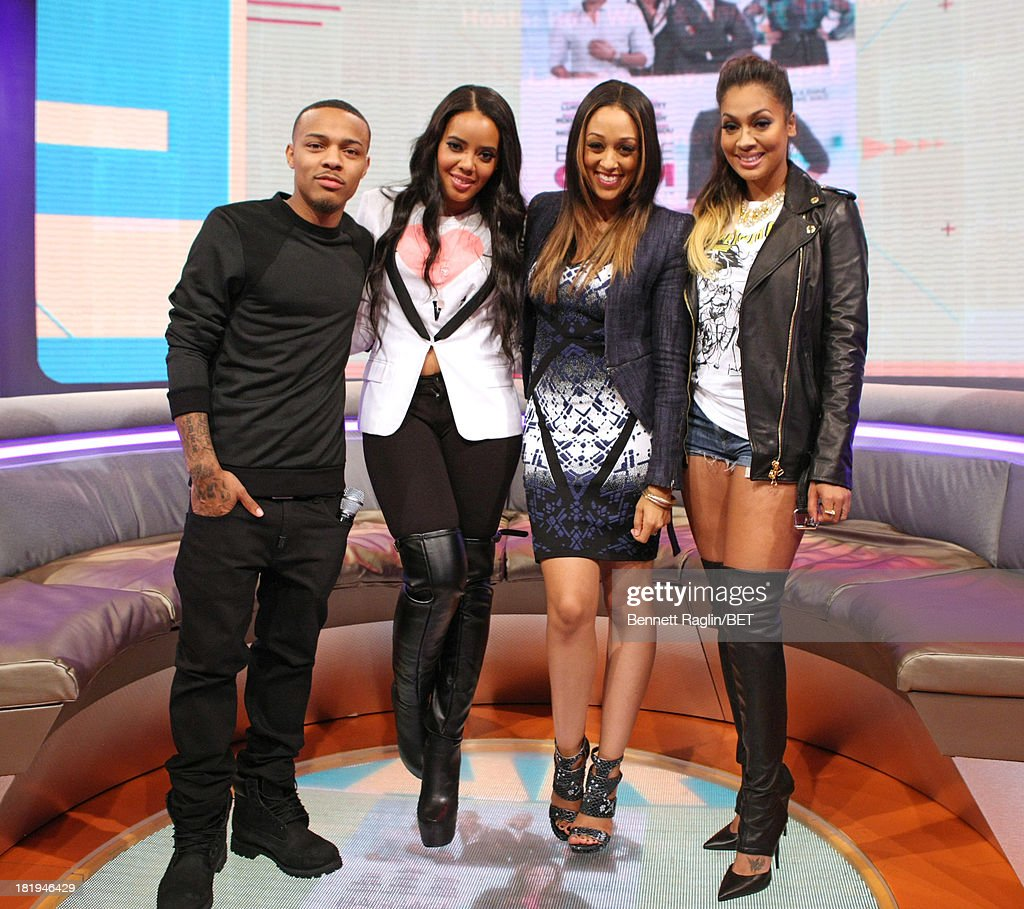 <a gi-track='captionPersonalityLinkClicked' href=/galleries/search?phrase=Bow+Wow+-+Rapper&family=editorial&specificpeople=211211 ng-click='$event.stopPropagation()'>Bow Wow</a>, <a gi-track='captionPersonalityLinkClicked' href=/galleries/search?phrase=Angela+Simmons&family=editorial&specificpeople=653461 ng-click='$event.stopPropagation()'>Angela Simmons</a>,<a gi-track='captionPersonalityLinkClicked' href=/galleries/search?phrase=Tia+Mowry&family=editorial&specificpeople=631098 ng-click='$event.stopPropagation()'>Tia Mowry</a>, and LaLa Vasquez attend 106 & Park at 106 & Park on September 23, 2013 in New York City.