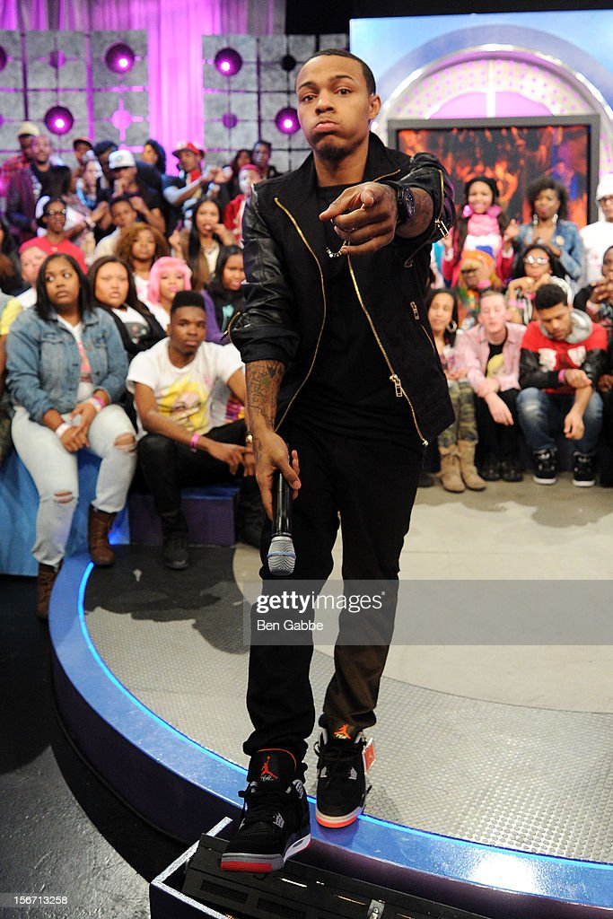 <a gi-track='captionPersonalityLinkClicked' href=/galleries/search?phrase=Bow+Wow+-+Rapper&family=editorial&specificpeople=211211 ng-click='$event.stopPropagation()'>Bow Wow</a> attends BET's 106 & Park Studio on November 19, 2012 in New York City.