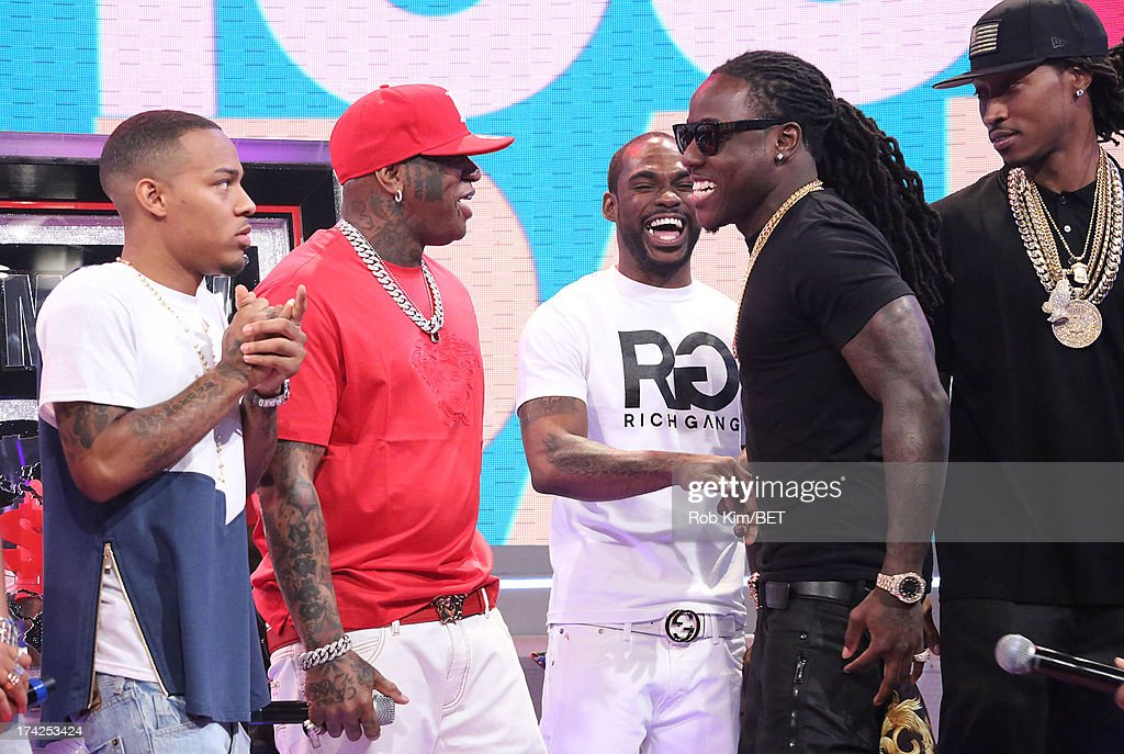 <a gi-track='captionPersonalityLinkClicked' href=/galleries/search?phrase=Bow+Wow+-+Rapper&family=editorial&specificpeople=211211 ng-click='$event.stopPropagation()'>Bow Wow</a>, Birdman, Stevie J, Ace Hood and Future at BET's 106 and Park at BET Studios on July 22, 2013 in New York City.