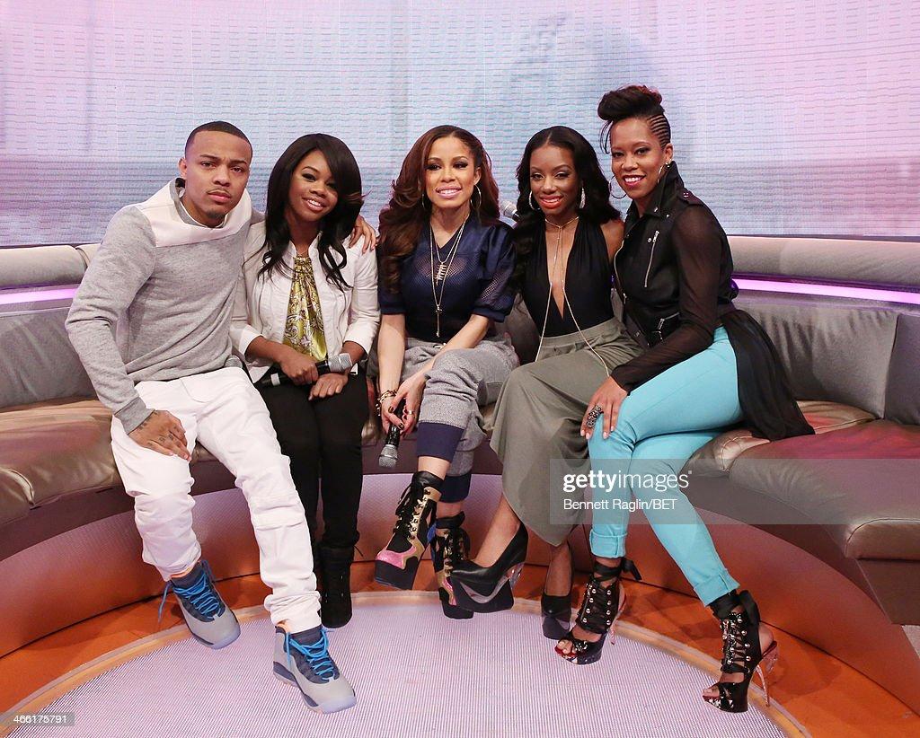 Bow Wow, Gabby Douglas, Keshia Chante, Imani Hakim, and Regina King attend 106 & Park at BET studio on January 30, 2014 in New York City.