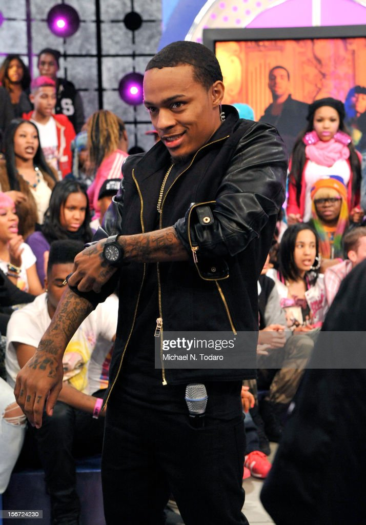 <a gi-track='captionPersonalityLinkClicked' href=/galleries/search?phrase=Bow+Wow+-+Rapper&family=editorial&specificpeople=211211 ng-click='$event.stopPropagation()'>Bow Wow</a> hosts BET's 106 & Park at 106 & Park Studio on November 19, 2012 in New York City.