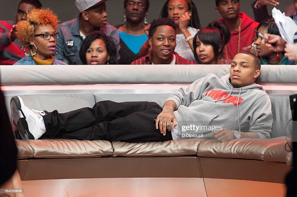 <a gi-track='captionPersonalityLinkClicked' href=/galleries/search?phrase=Bow+Wow+-+Rapper&family=editorial&specificpeople=211211 ng-click='$event.stopPropagation()'>Bow Wow</a> hosts BET's '106 & Park' at BET Studios on March 21, 2013 in New York City.