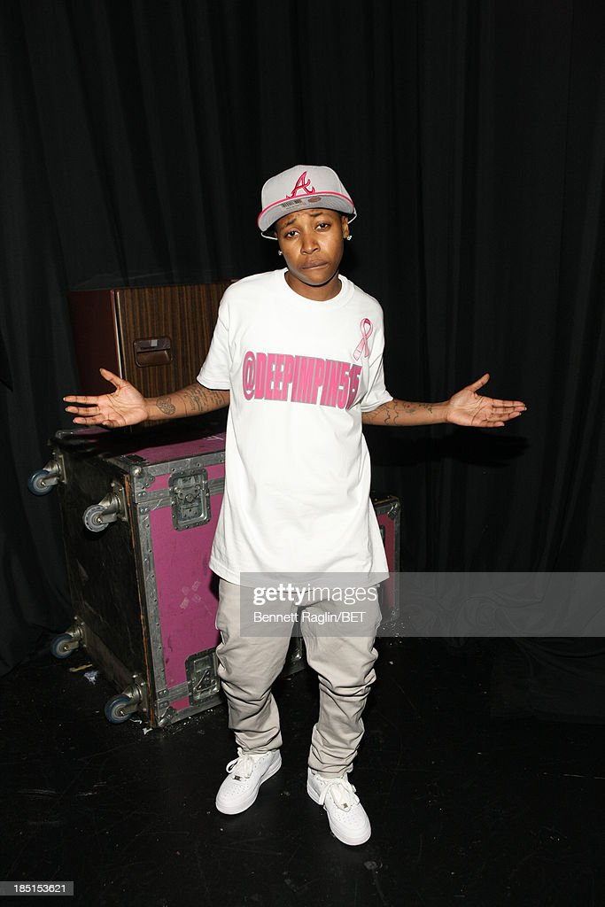 Bow Wow impersonator Mattie 'Dee Pimpin' Brown visits 106 & Park at 106 & Park studio on October 17, 2013 in New York City.