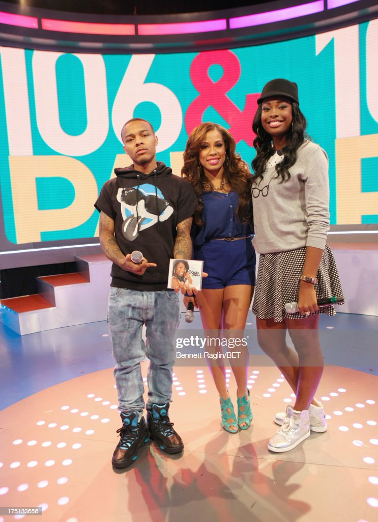 <a gi-track='captionPersonalityLinkClicked' href=/galleries/search?phrase=Bow+Wow+-+Rapper&family=editorial&specificpeople=211211 ng-click='$event.stopPropagation()'>Bow Wow</a>, Keshia Chante, and <a gi-track='captionPersonalityLinkClicked' href=/galleries/search?phrase=Coco+Jones&family=editorial&specificpeople=4684153 ng-click='$event.stopPropagation()'>Coco Jones</a> attend BET's '106 & Park' at BET Studios on July 31, 2013 in New York City.