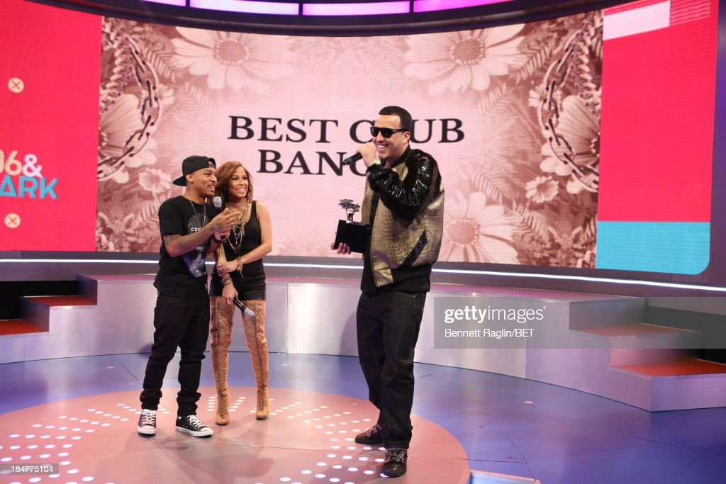 <a gi-track='captionPersonalityLinkClicked' href=/galleries/search?phrase=Bow+Wow+-+Rapper&family=editorial&specificpeople=211211 ng-click='$event.stopPropagation()'>Bow Wow</a>, Keshia Chante, and <a gi-track='captionPersonalityLinkClicked' href=/galleries/search?phrase=French+Montana&family=editorial&specificpeople=7131467 ng-click='$event.stopPropagation()'>French Montana</a> attend 106 & Park at 106 & Park studio on October 15, 2013 in New York City.