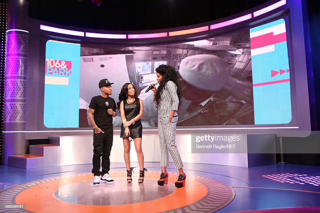 <a gi-track='captionPersonalityLinkClicked' href=/galleries/search?phrase=Bow+Wow+-+Rapper&family=editorial&specificpeople=211211 ng-click='$event.stopPropagation()'>Bow Wow</a>, Keshia Chante, and <a gi-track='captionPersonalityLinkClicked' href=/galleries/search?phrase=Kelis&family=editorial&specificpeople=203061 ng-click='$event.stopPropagation()'>Kelis</a> attend 106 & Park at BET studio on April 24, 2014 in New York City.