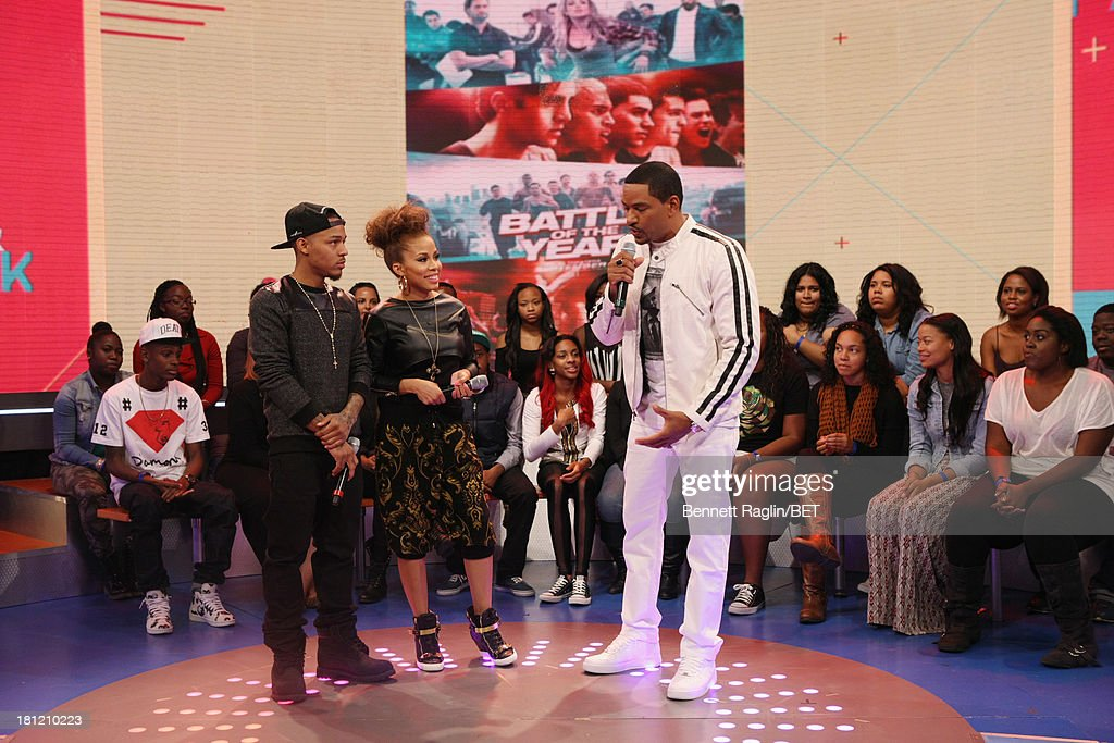 Bow Wow, Keshia Chante, and Laz Alonso attend 106 & Park at 106 & Park Studio on September 18, 2013 in New York City.