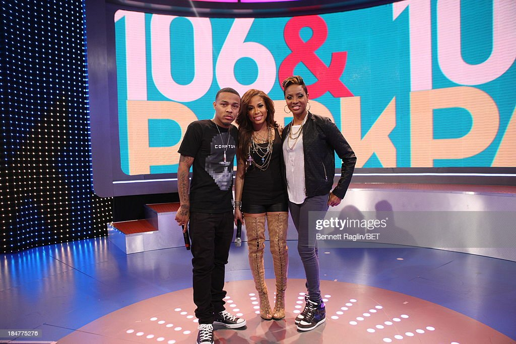 <a gi-track='captionPersonalityLinkClicked' href=/galleries/search?phrase=Bow+Wow+-+Rapper&family=editorial&specificpeople=211211 ng-click='$event.stopPropagation()'>Bow Wow</a>, Keshia Chante, and <a gi-track='captionPersonalityLinkClicked' href=/galleries/search?phrase=MC+Lyte&family=editorial&specificpeople=226807 ng-click='$event.stopPropagation()'>MC Lyte</a> attend 106 & Park at 106 & Park studio on October 15, 2013 in New York City.