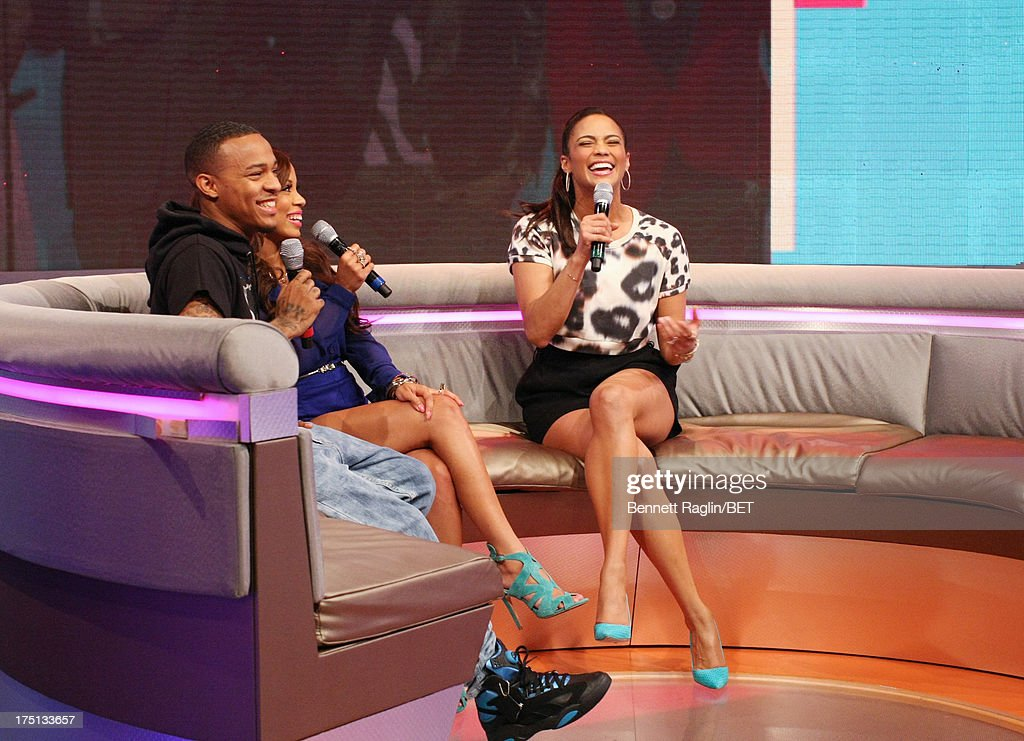 <a gi-track='captionPersonalityLinkClicked' href=/galleries/search?phrase=Bow+Wow+-+Rapper&family=editorial&specificpeople=211211 ng-click='$event.stopPropagation()'>Bow Wow</a>, Keshia Chante, and <a gi-track='captionPersonalityLinkClicked' href=/galleries/search?phrase=Paula+Patton&family=editorial&specificpeople=752812 ng-click='$event.stopPropagation()'>Paula Patton</a> attend BET's 106 & Park at BET Studios on July 31, 2013 in New York City.