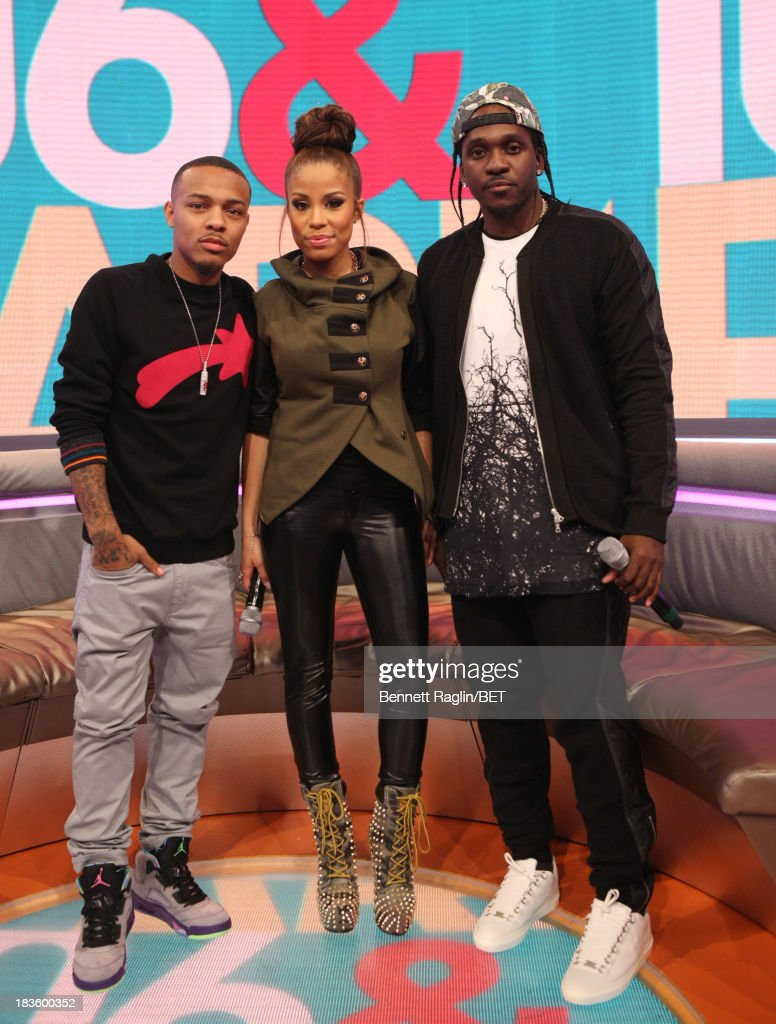<a gi-track='captionPersonalityLinkClicked' href=/galleries/search?phrase=Bow+Wow+-+Rapper&family=editorial&specificpeople=211211 ng-click='$event.stopPropagation()'>Bow Wow</a>, Keshia Chante, and <a gi-track='captionPersonalityLinkClicked' href=/galleries/search?phrase=Pusha+T&family=editorial&specificpeople=3994271 ng-click='$event.stopPropagation()'>Pusha T</a> attend 106 & Park at 106 & Park studio on October 7, 2013 in New York City.
