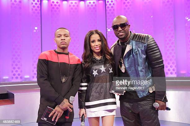 Bow Wow Keshia Chante and Rico Love attend 106 Park at BET studio on April 9 2014 in New York City
