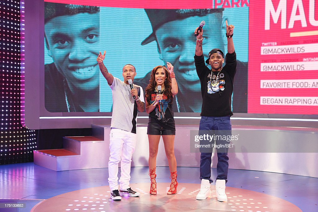 <a gi-track='captionPersonalityLinkClicked' href=/galleries/search?phrase=Bow+Wow&family=editorial&specificpeople=211211 ng-click='$event.stopPropagation()'>Bow Wow</a>, Keshia Chante, and <a gi-track='captionPersonalityLinkClicked' href=/galleries/search?phrase=Tristan+Wilds&family=editorial&specificpeople=3025356 ng-click='$event.stopPropagation()'>Tristan Wilds</a> attend BET's '106 & Park' at BET Studios on July 31, 2013 in New York City.