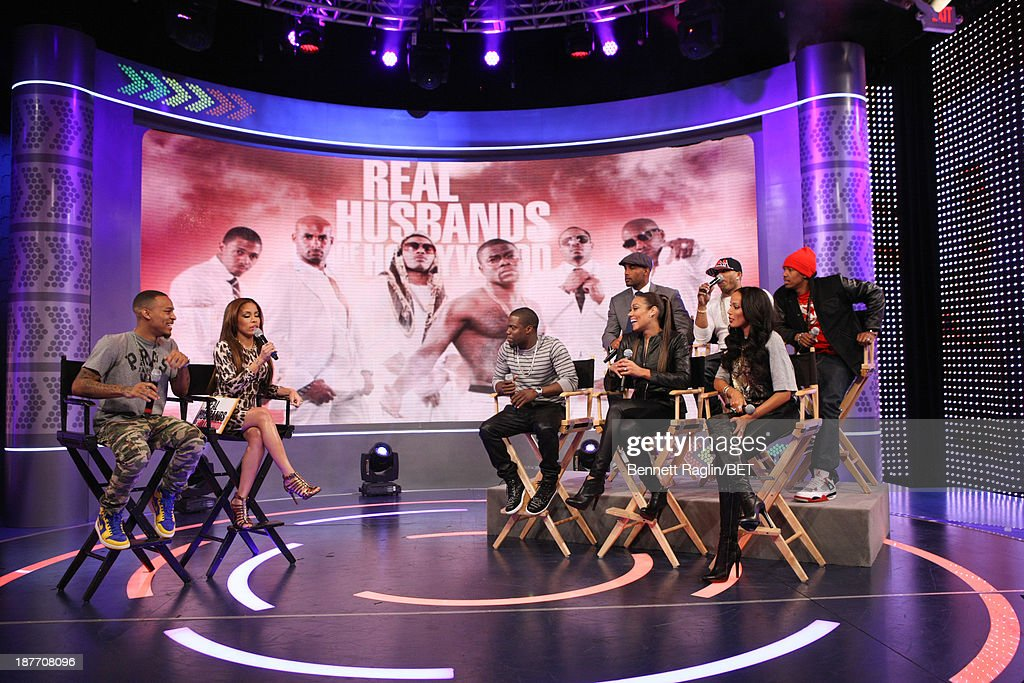 Bow Wow, Keshia Chante, Kevin Hart, Cynthia Kaye McWilliams, Selita Ebanks (back row) Boris Kodjoe, Nelly, and Nick Cannon attend 106 & Park at 106 & Park studio on November 11, 2013 in New York City.