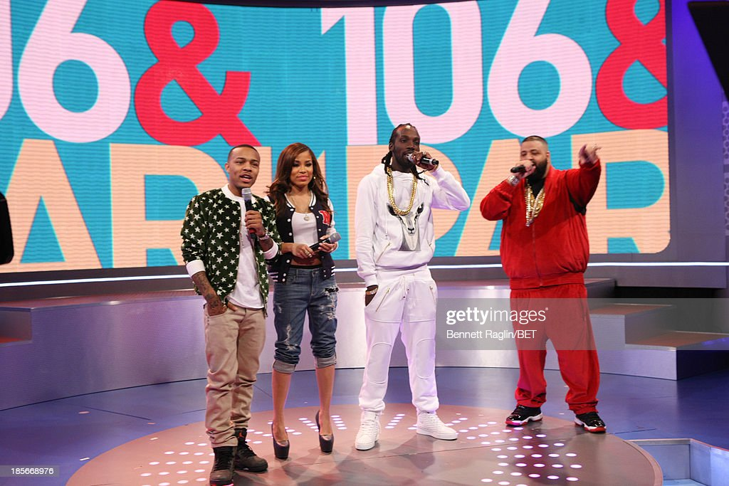 Bow Wow, Keshia Chante, Movado, and DJ Khaled visit 106 & Park at 106 & Park studio on October 22, 2013 in New York City.