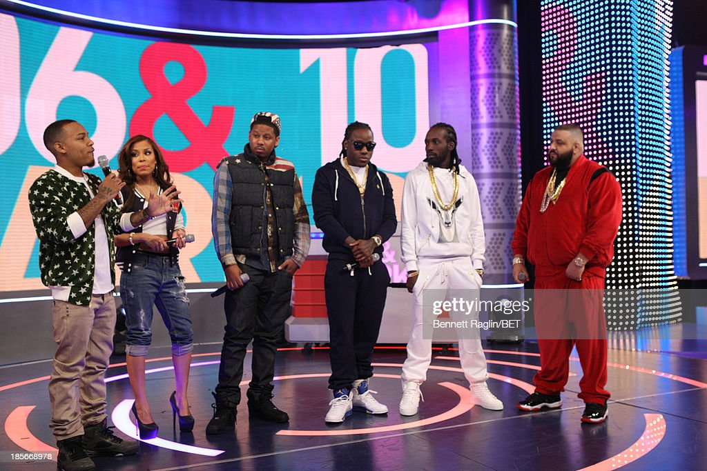 Bow Wow, Keshia Chante, Vado, Ace Hood, Mavodo, and DJ Khaled attend 106 & Park at 106 & Park studio on October 22, 2013 in New York City.
