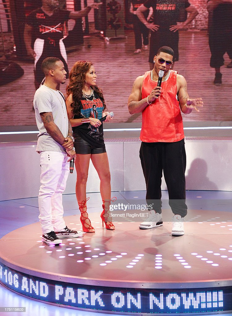 Bow Wow, Keshia Chante,and Nelly attend BET's '106 & Park' at BET Studios on July 31, 2013 in New York City.