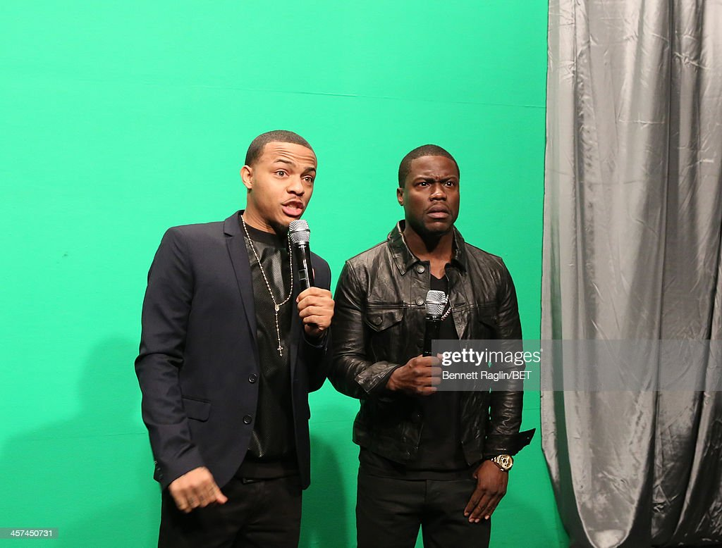 <a gi-track='captionPersonalityLinkClicked' href=/galleries/search?phrase=Bow+Wow+-+Rapper&family=editorial&specificpeople=211211 ng-click='$event.stopPropagation()'>Bow Wow</a> Kevin Hart attend 106 & Park at BET studio on December 16, 2013 in New York City.