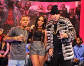 Bow Wow Kimberly Paigion Walker and French Montana visit BET's '106 Park' at BET Studios on March 7 2013 in New York City