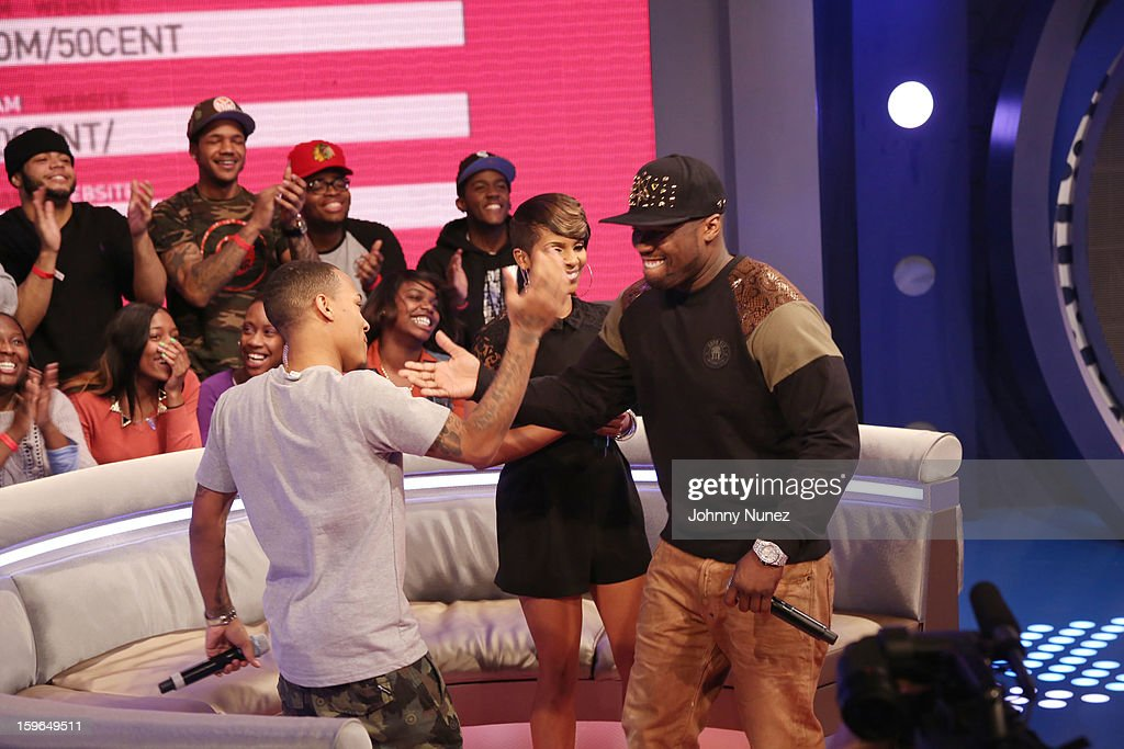 Bow Wow, Miss Mykie and 50 Cent visit BET's '106 & Park' at BET Studios on January 17, 2013 in New York City.