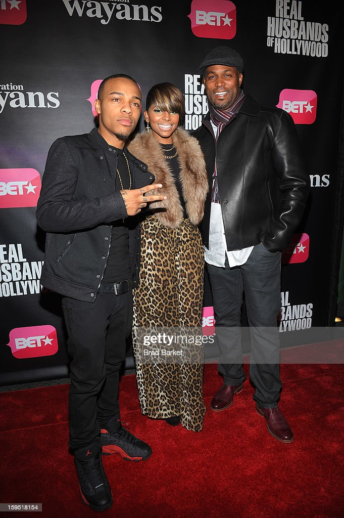 <a gi-track='captionPersonalityLinkClicked' href=/galleries/search?phrase=Bow+Wow+-+Rapper&family=editorial&specificpeople=211211 ng-click='$event.stopPropagation()'>Bow Wow</a>, Ms. Mikey and Chris Spencer attend BET Networks New York Premiere Of 'Real Husbands of Hollywood' And 'Second Generation Wayans' at SVA Theater on January 14, 2013 in New York City.