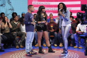 Bow Wow Paigion and CoCo Jones at BETs 106 Park at BET Studios on March 13 2013 in New York City
