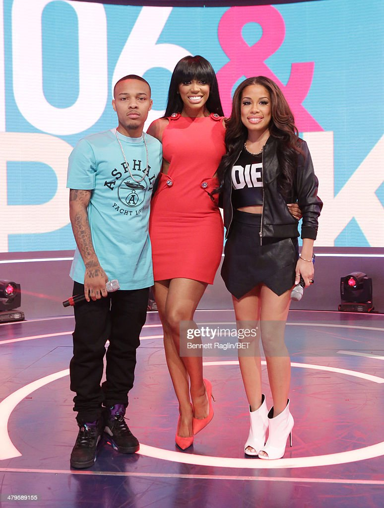 <a gi-track='captionPersonalityLinkClicked' href=/galleries/search?phrase=Bow+Wow+-+Rapper&family=editorial&specificpeople=211211 ng-click='$event.stopPropagation()'>Bow Wow</a> , Porsha Williams, and Keshia Chante attend 106 & Park at BET studio on March 19, 2014 in New York City.