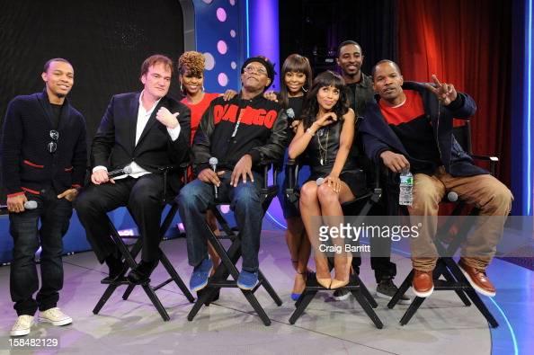 Bow Wow Quentin Tarantino Miss Mykie Samuel L Jackson Paijion Kerry Washington Shorty Da Prince and Jamie Foxx visit BET's '106 Park' at 106 Park...